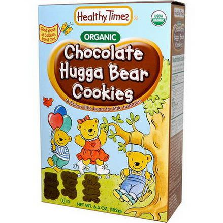 Healthy Times, Organic Hugga Bear Cookies, Chocolate 182g