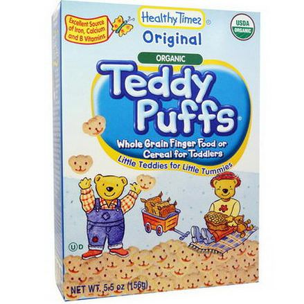 Healthy Times, Organic Teddy Puffs, Original 156g