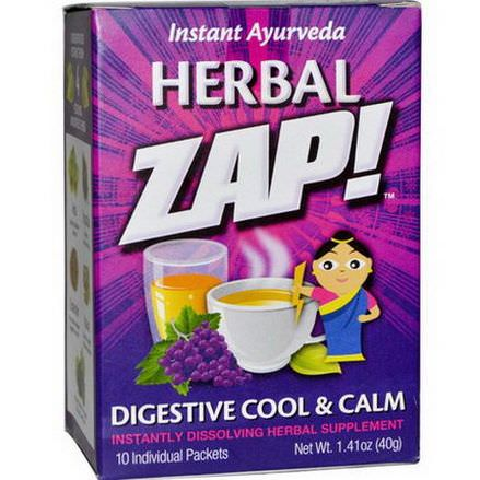 Herbal Zap, Digestive Cool&Calm, 10 Packets 40g