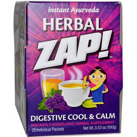 Herbal Zap, Digestive Cool&Calm, 25 Packets 100g