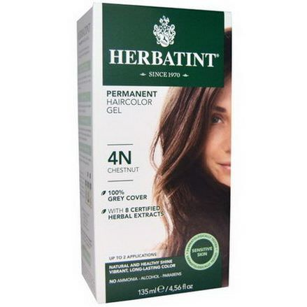 Herbatint, Permanent Haircolor Gel, 4N, Chestnut 135ml