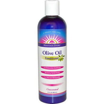 Heritage Products, Olive Oil Conditioner, Unscented 360ml