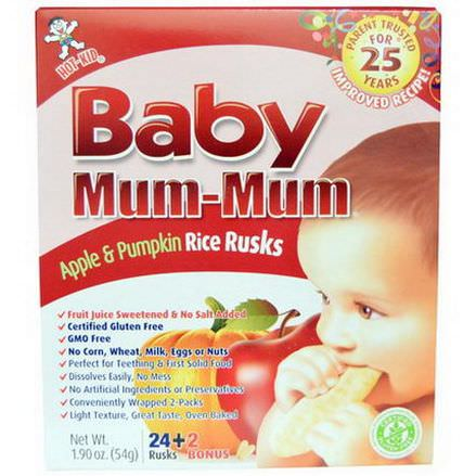 Hot Kid, Baby Mum-Mum, Apple&Pumpkin Rice Rusks, 26 Rusks 54g