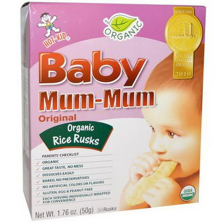 Hot Kid, Baby Mum-Mum, Organic Rice Rusks, Original, 24 Rusks 50g