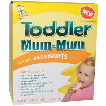 Hot Kid, Toddler Mum-Mum, Banana Rice Biscuits, 20 Biscuits 50g