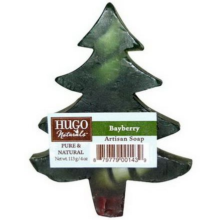 Hugo Naturals, Artisan Soap, Bayberry Christmas Tree 113g
