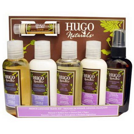 Hugo Naturals, French Lavender Travel Kit, 6 Piece Kit