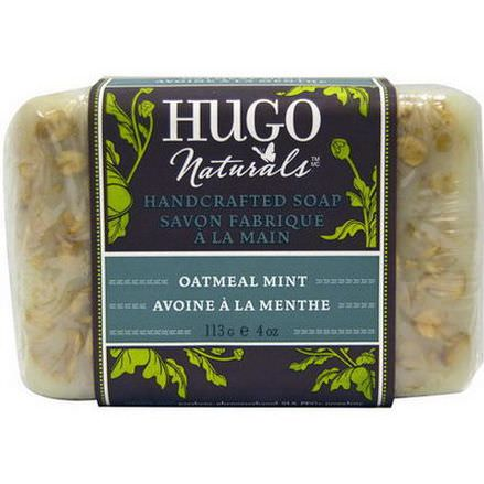Hugo Naturals, Handcrafted Soap, Oatmeal Mint 113g