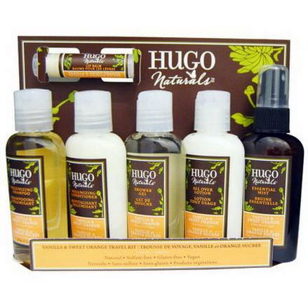Hugo Naturals, Vanilla&Sweet Orange Travel Kit, 6 Pieces