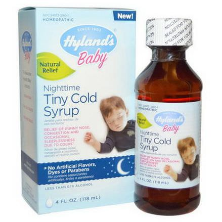 Hyland's, Baby, Nighttime Tiny Cold Syrup 118ml