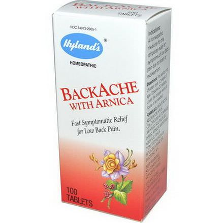 Hyland's, BackAche With Arnica, 100 Tablets