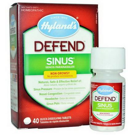 Hyland's, Defend, Sinus, 40 Quick-Dissolving Tablets