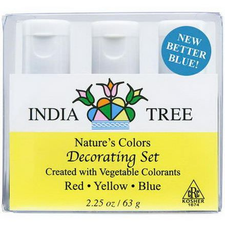 India Tree Gourmet Spices&Specialties, Nature's Colors, Decorating Set 63g