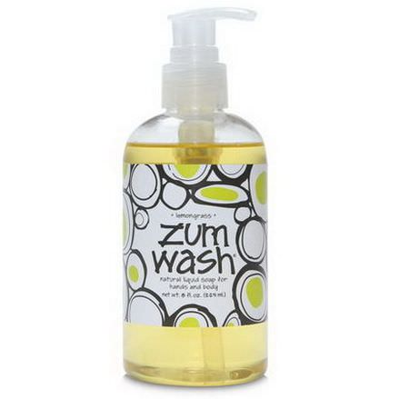 Indigo Wild, Zum Wash, Natural Liquid Soap for Hands and Body, Lemongrass 225ml