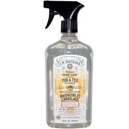 J R Watkins, Natural Home Care, Tub&Tile Cleaner, Orange Citrus 710ml