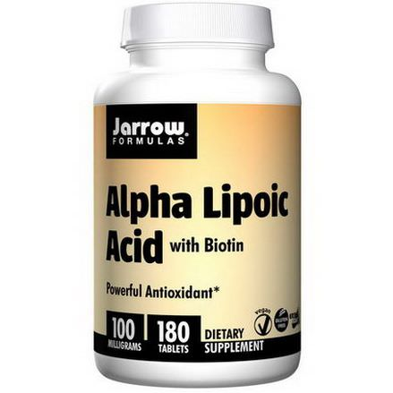 Jarrow Formulas, Alpha Lipoic Acid, with Biotin, 100mg, 180 Tablets