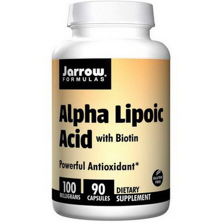 Jarrow Formulas, Alpha Lipoic Acid, with Biotin, 100mg, 90 Capsules