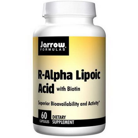 Jarrow Formulas, R-Alpha Lipoic Acid, with Biotin, 60 Capsules