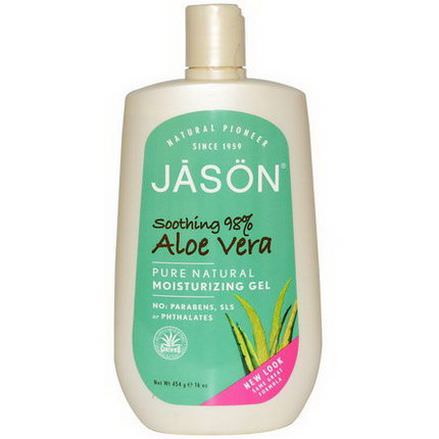 Jason Natural, Moisturizing Gel, Aloe Vera 454g