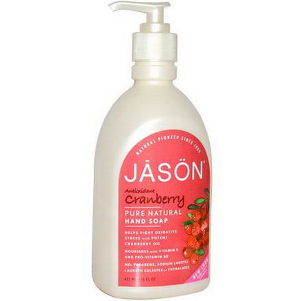 Jason Natural, Pure Natural Hand Soap, Antioxidant Cranberry 473ml