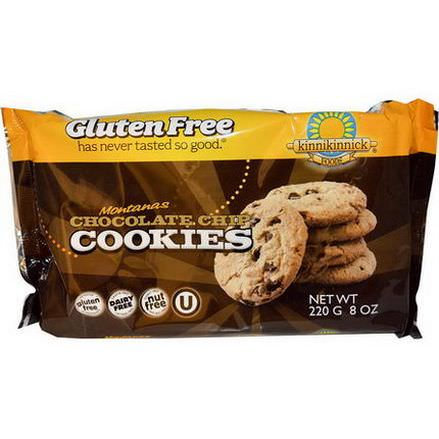 Kinnikinnick Foods, Montanas Chocolate Chip Cookies 220g
