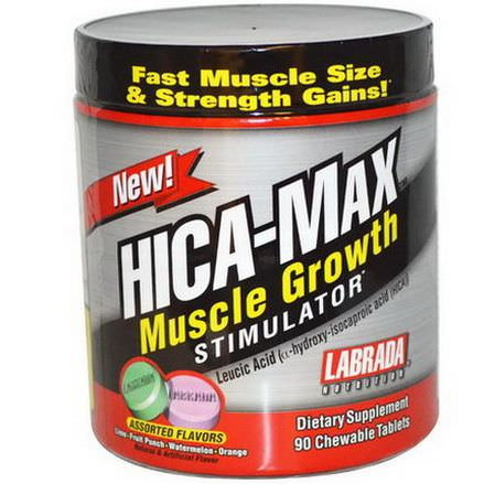 Labrada Nutrition, HICA-Max, Muscle Growth Stimulator, Assorted Flavors, 90 Chewable Tablets