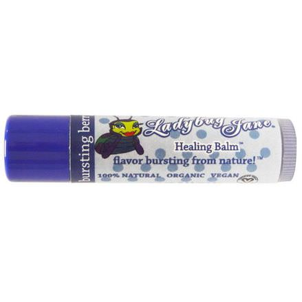 LadyBug Jane, Healing Lip Balm, Bursting Berry 4g