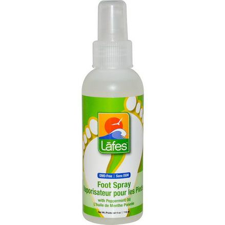 Lafe's Natural Body Care, Foot Spray with Peppermint Oil 118ml