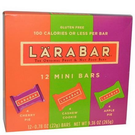 Larabar, Mini Multipack Bars, 12 Mini Bars 22g Each