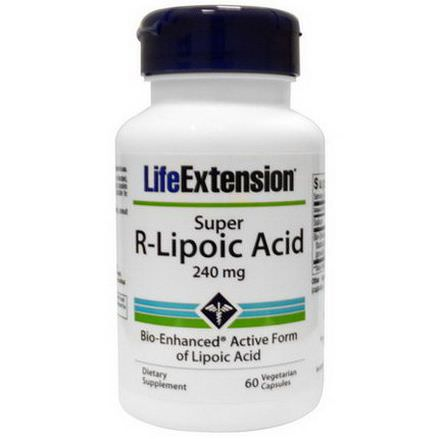 Life Extension, Super R-Lipoic Acid, 240mg, 60 Veggie Caps