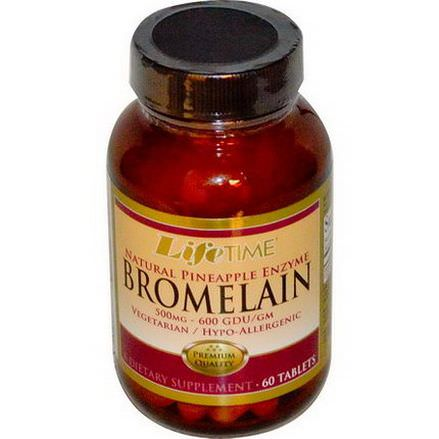 Life Time, Bromelain, Natural Pineapple Enzyme, 500mg, 60 Tablets