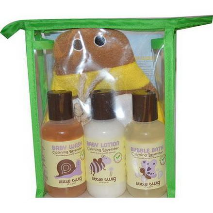 Little Twig, Travel Basics Set, Lavender Bee, 4 Piece Set