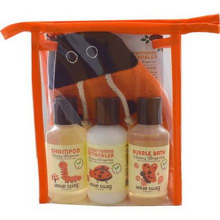Little Twig, Travel Basics Set, Tangerine Bug, 4 Piece Set
