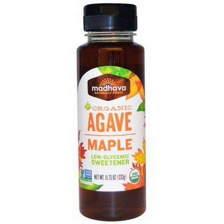 Madhava Natural Sweeteners, Organic, Agave, Maple 333g