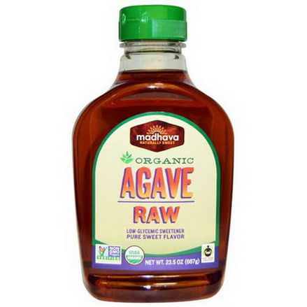 Madhava Natural Sweeteners, Organic Agave, Raw, Low-Glycemic Sweetener 667g