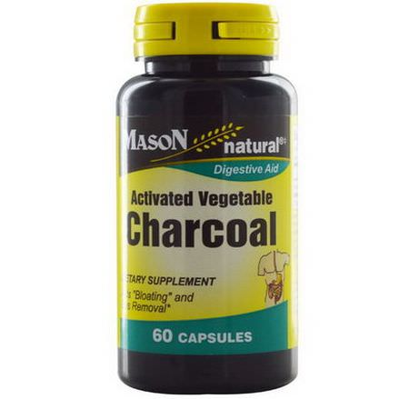Mason Vitamins, Activated Vegetable Charcoal, 60 Capsules