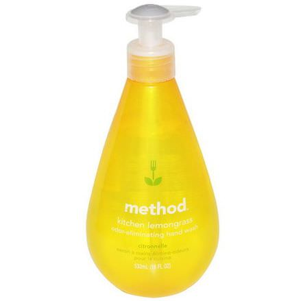 Method, Kitchen Odor-Eliminating Hand Wash, Lemongrass 532ml