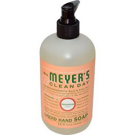 Mrs. Meyers Clean Day, Liquid Hand Soap, Geranium Scent 370ml