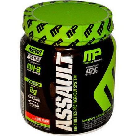 Muscle Pharm, Assault, Pre-Workout System, Fruit Punch 435g