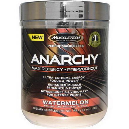 Muscletech, Anarchy, Pre-Workout, Watermelon 150g