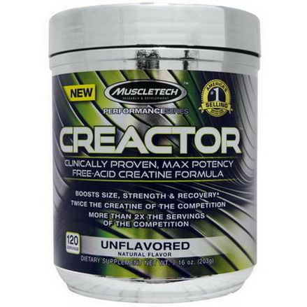 Muscletech, Creactor, Unflavoured 203g