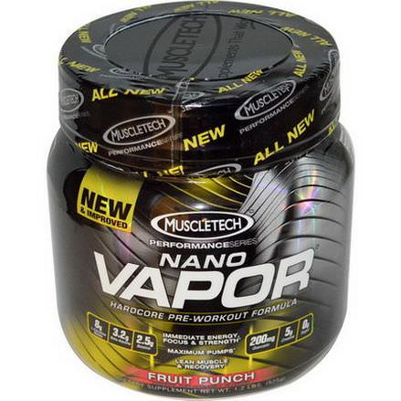 Muscletech, Nano Vapor, Performance Series, Hardcore Pre-Workout Formula, Fruit Punch 525g