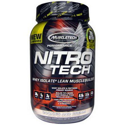 Muscletech, Nitro-Tech, Whey Isolate Lean Muscle Builder, Cookies and Cream 907g
