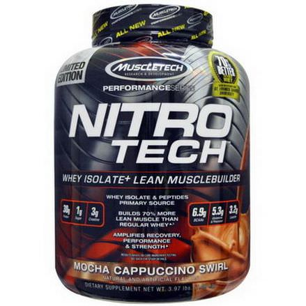 Muscletech, NitroTech, Whey Isolate+ Lean Musclebuilder, Mocha Cappuccino Swirl 1.80 kg