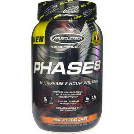 Muscletech, PerformanceSeries, Phase8, Multi-Phase 8-Hour Protein, Milk Chocolate 907g
