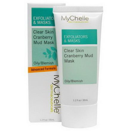 MyChelle Dermaceuticals, Exfoliators&Masks, Clear Skin Cranberry Mud Mask, Oily/Blemish 35ml