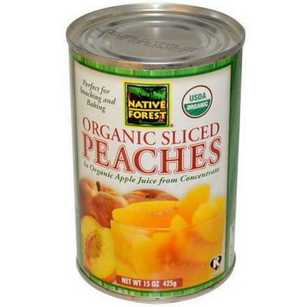 Native Forest, Organic Sliced Peaches in Organic Apple Juice from Concentrate 425g