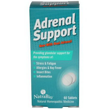 NatraBio, Adrenal Support, 60 Tablets