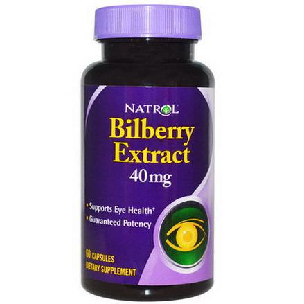 Natrol, Bilberry Extract, 40mg, 60 Capsules