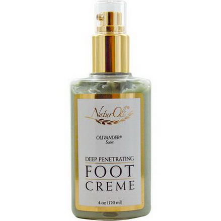 NaturOli, Deep Penetrating Foot Creme, Olivander Scent 120ml